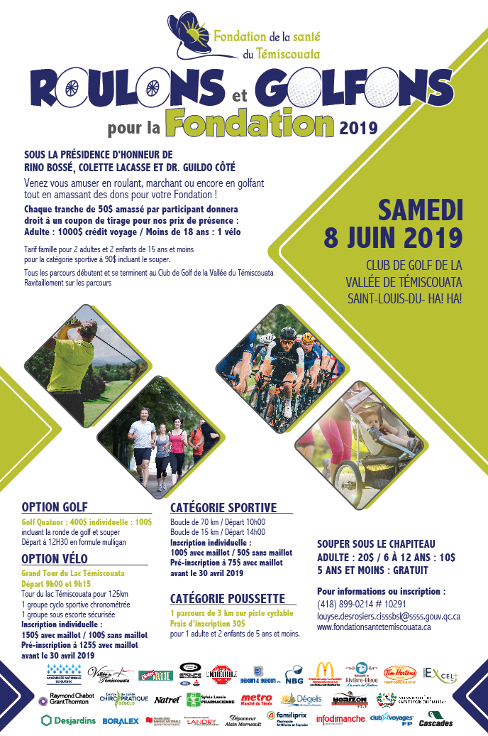 Affiche Roulons  Golfons 2019
